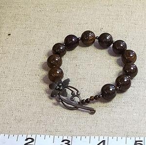 Silpada Bronzite Beaded Bracelet